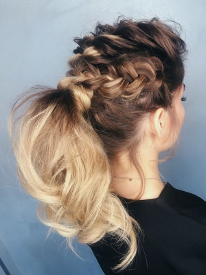 Updo by Katya Belenkaia at U-Mode in Brooklyn, NY 11235 on Frizo