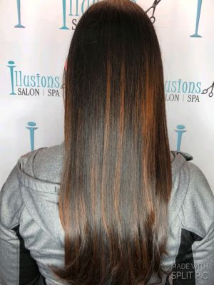 Balayage by Nicole Libretta at Illusions hair salon and day spa in Freehold, NJ 07728 on Frizo