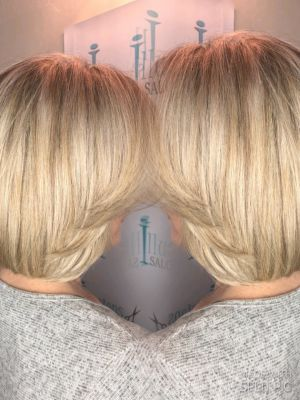 Partial highlights by Nicole Libretta at Illusions hair salon and day spa in Freehold, NJ 07728 on Frizo
