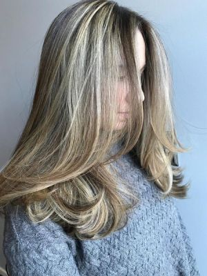 Highlights by Krysta Colella at KCo in Caldwell, NJ 07006 on Frizo