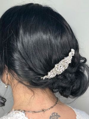 Bridal hair by Sam Smith at SamSmithStyle in Colorado Springs, CO 80911 on Frizo