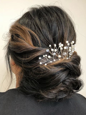 Bridal hair by Lily Batrakova at Lily in Brooklyn, NY 11223 on Frizo