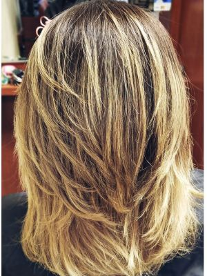 Women's haircut by Geovanna Ramos at Michael Joseph Salon And Spa in San Diego, CA 92128 on Frizo